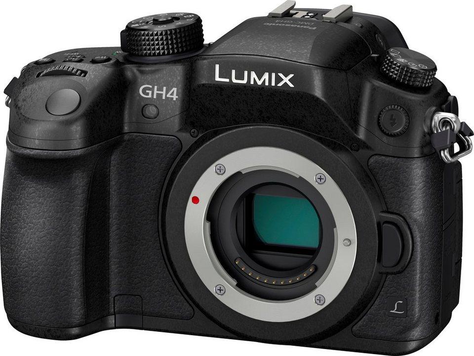 Lumix Panasonic DMC-GH4RE-K System Kamera, 16 Megapixel, 7,6 cm (3 Zoll) Display in schwarz