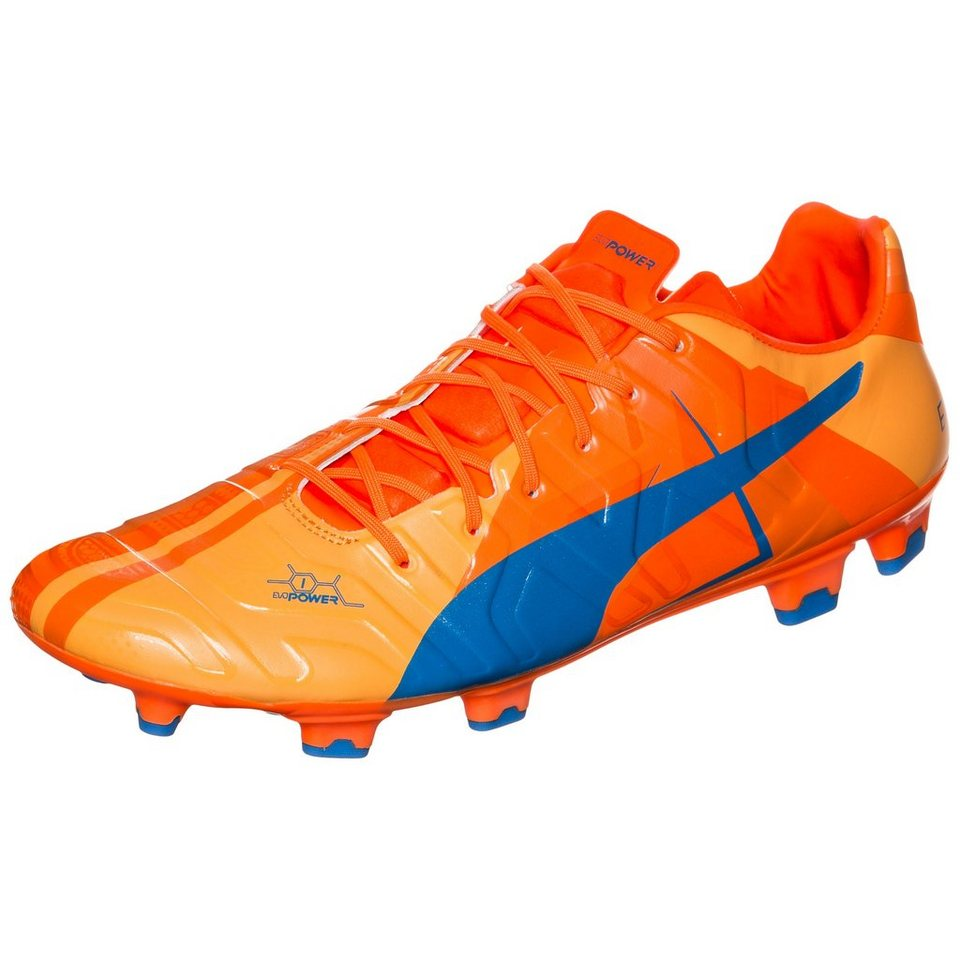 PUMA evoPOWER 1 Head To Head FG Fußballschuh Herren in blau / orange