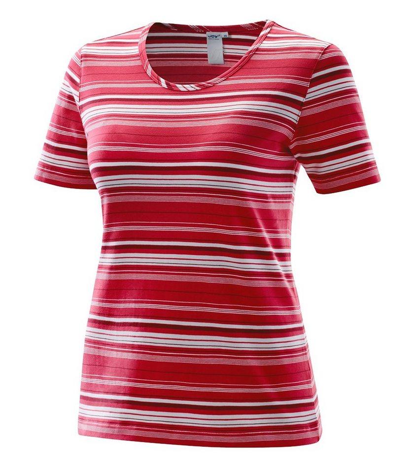 JOY sportswear T-Shirt »ASHLEE« in tizian red stripes