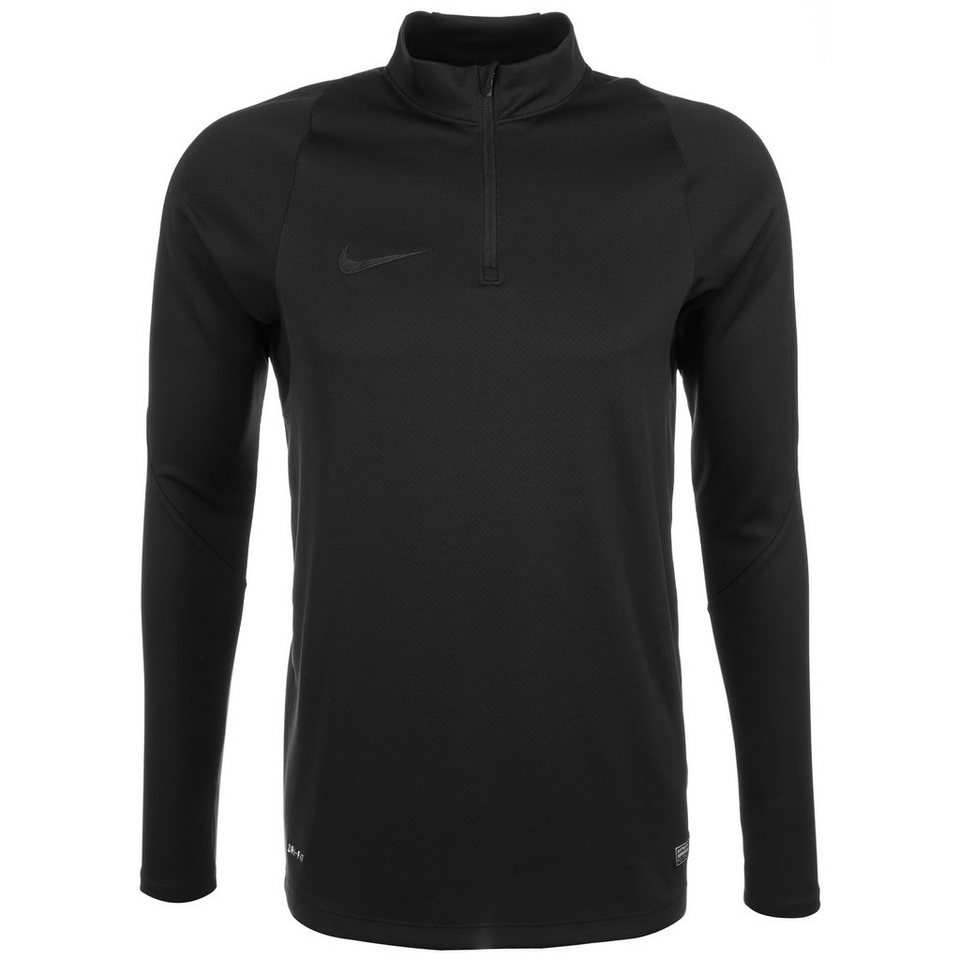 NIKE Drill Top Trainingsshirt Herren in schwarz