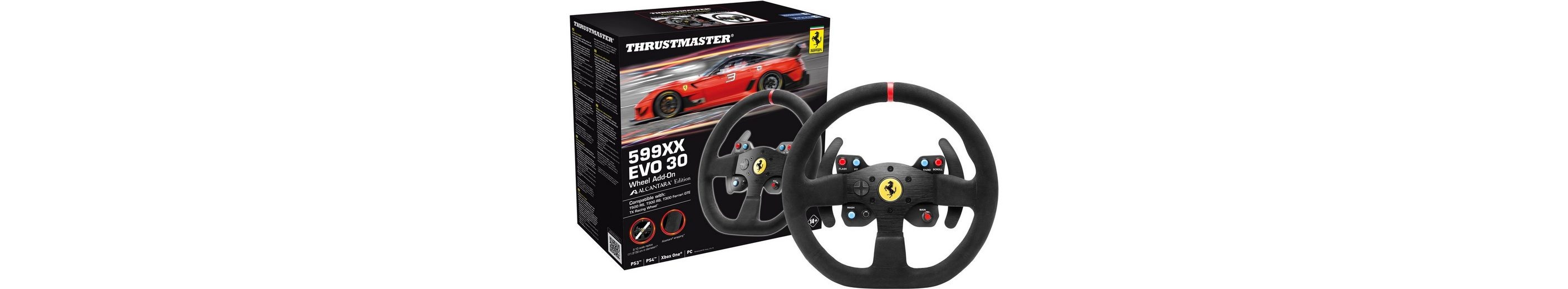 Thrustmaster F599XX EVO 30 Wheel AddOn Alcantara Edition (T300/T500) »(PS4 PS3 PC XBox One)«