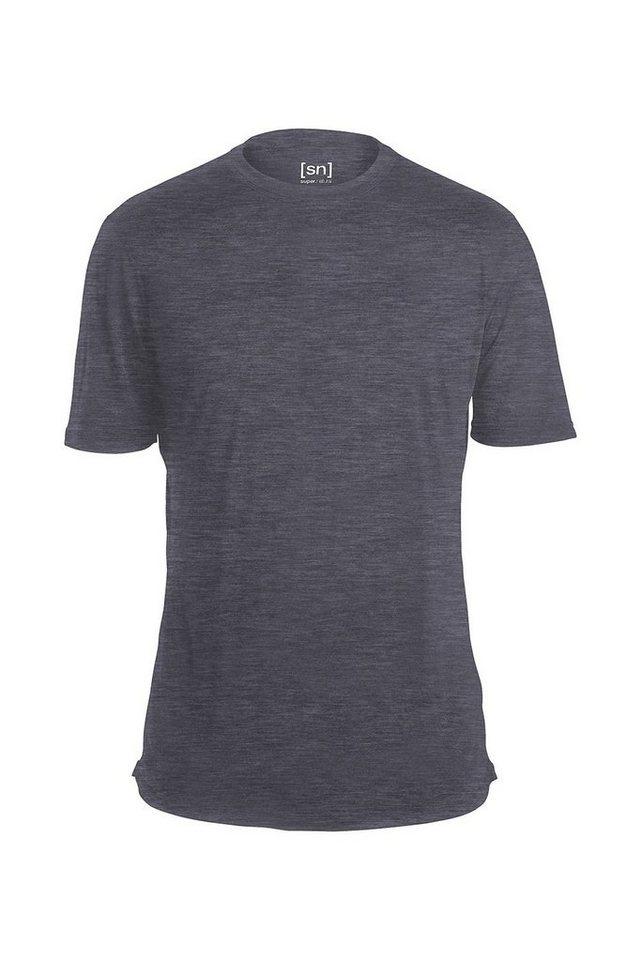 Super.Natural Merino T-Shirt »M BASE TEE 140« in QUIET SHADE MELANGE