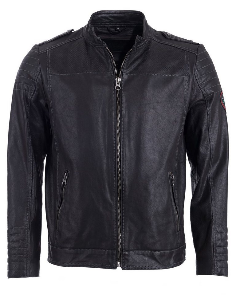 TOM TAILOR Lederjacke, Herren »15-5« in black