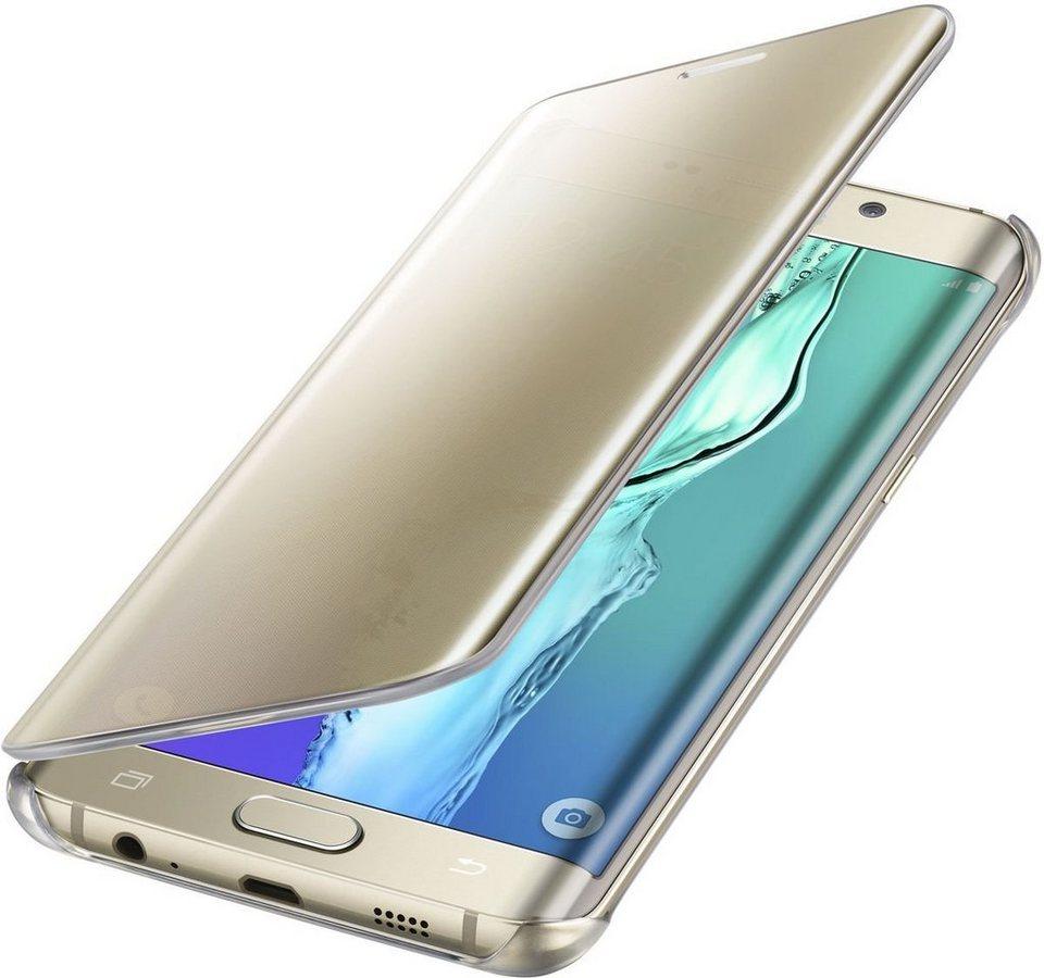 Samsung Handytasche »Clear View Cover für Galaxy S6 Edge+« in Gold