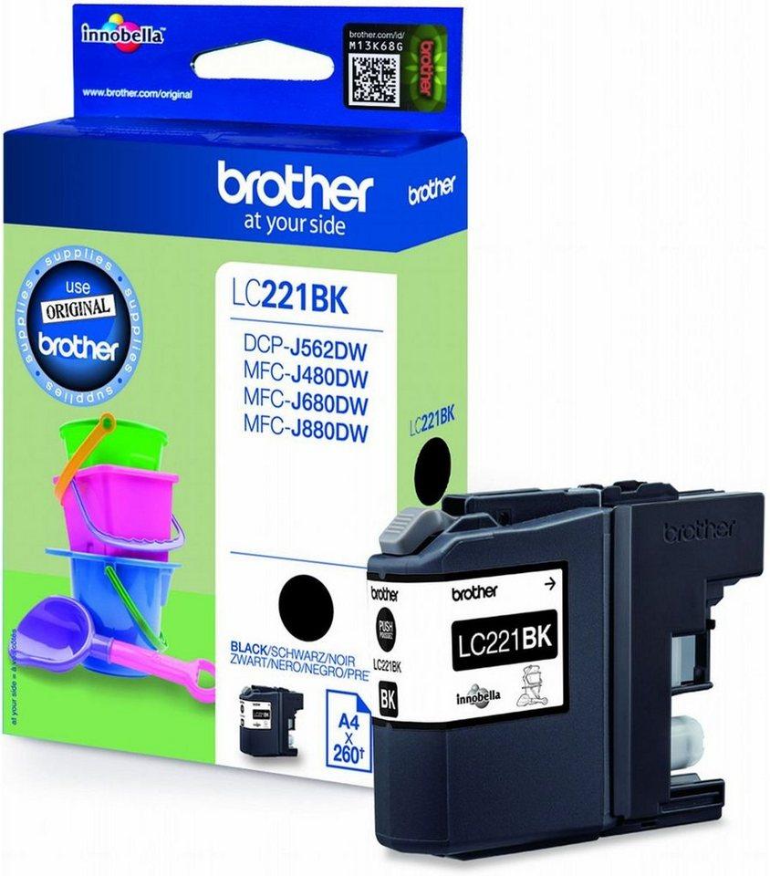 Brother Tintenpatrone »Tintenpatrone LC-221BK Schwarz« in keine Farbe