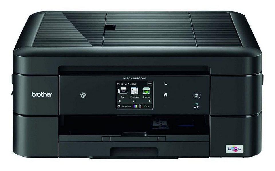 Brother Tintenstrahl-Multifunktionsdrucker »MFC-J880DW 4in1 Multifunktionsdrucker« in Schwarz