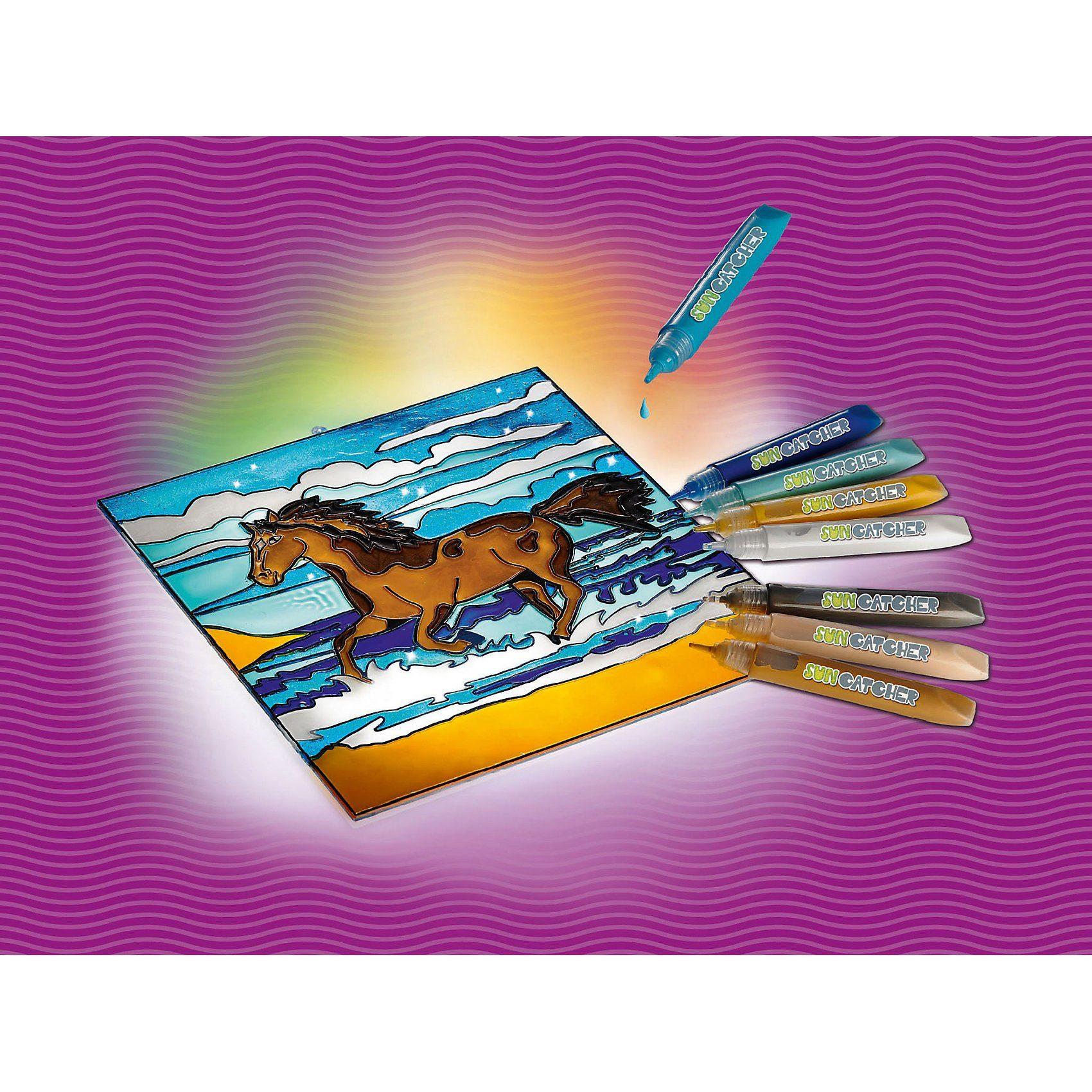 Revell MyArts 30702 Suncatcher Bastelset Fensterbild Pferd