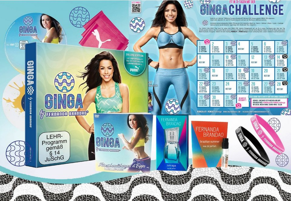 Ginga Lifestyle Package, Fitness-Workout, »Ginga by Fernanda Brandao®« (9tlg.)