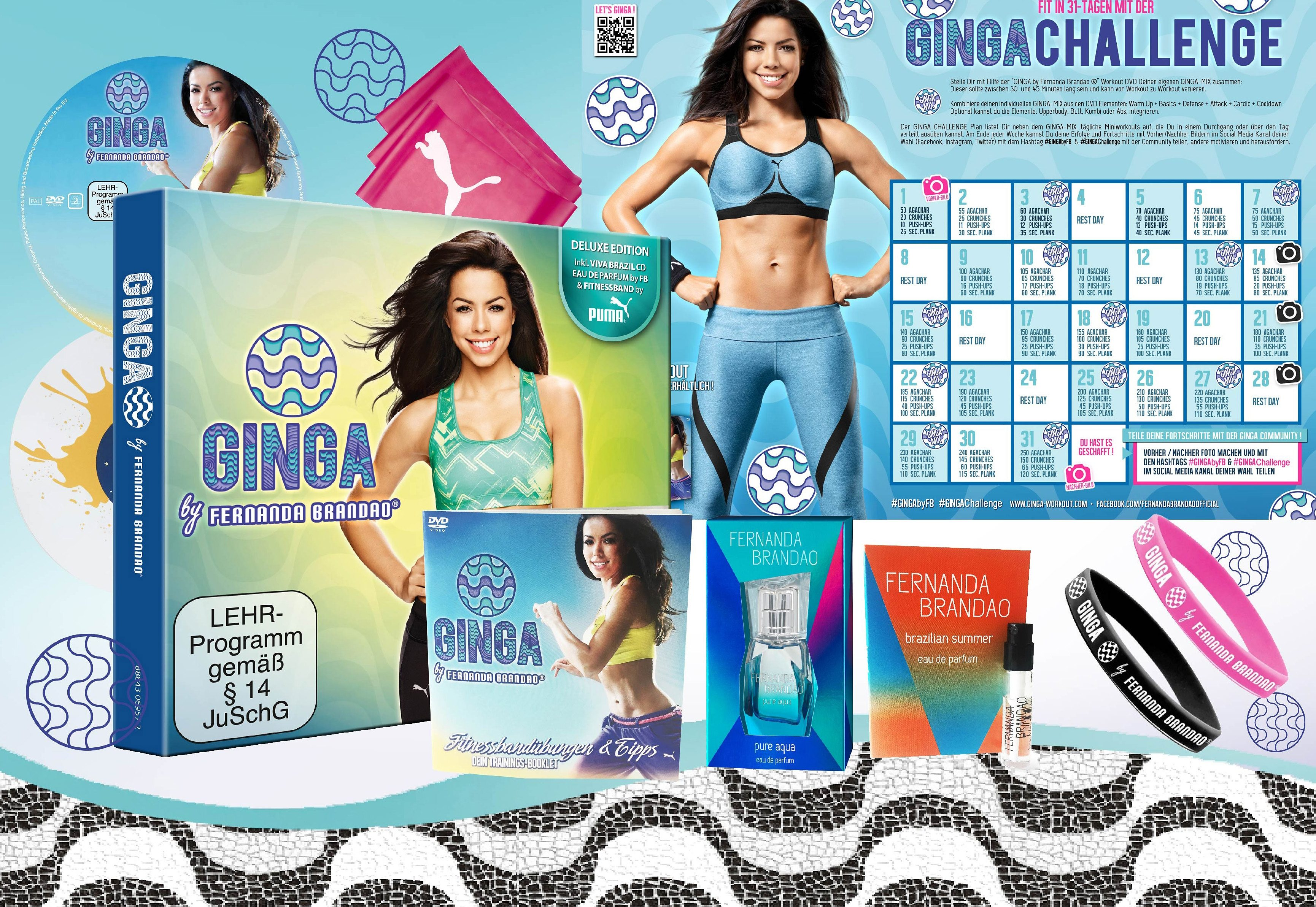 Sparset: Ginga Lifestyle Package, Fitness-Workout, »Ginga by Fernanda Brandao®« (9tlg.)