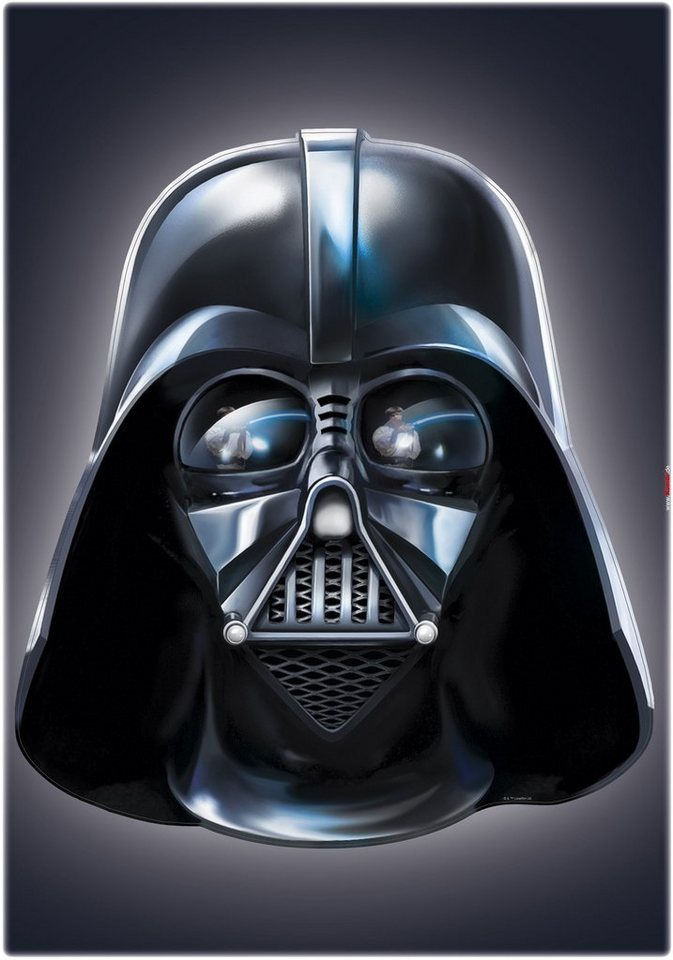 Wandsticker, Komar, »Star Wars Darth Vader«, 50/70 cm in schwarz