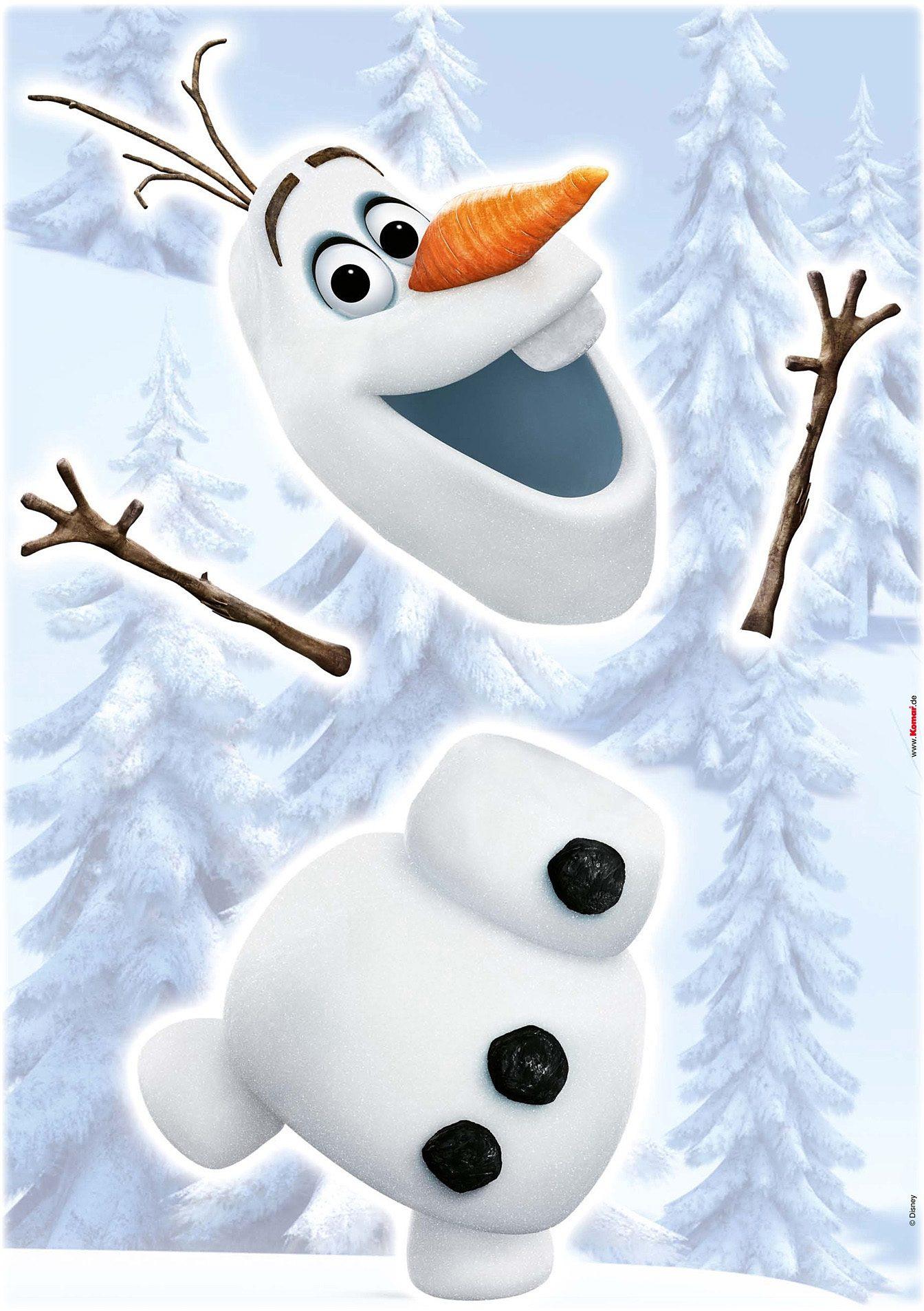 Wandsticker, Komar, »Frozen Olaf«, 50/70 cm