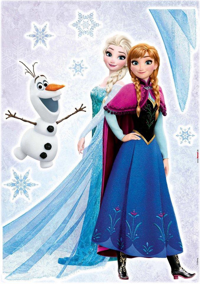 Wandsticker, Komar, »Frozen Sisters«, 50/70 cm in bunt