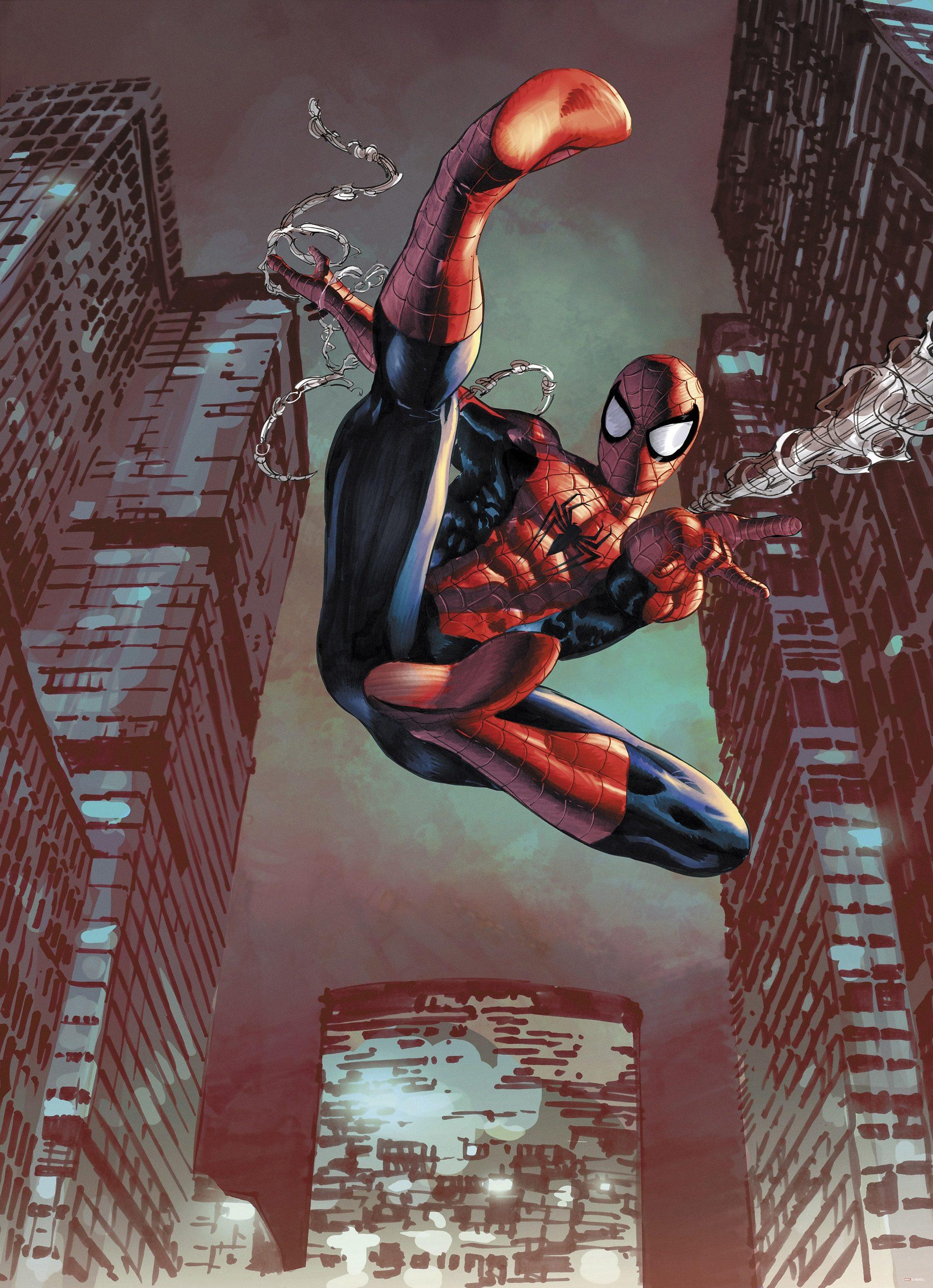 Papiertapete, Komar, »Spider-Man Jump«, 184/254 cm