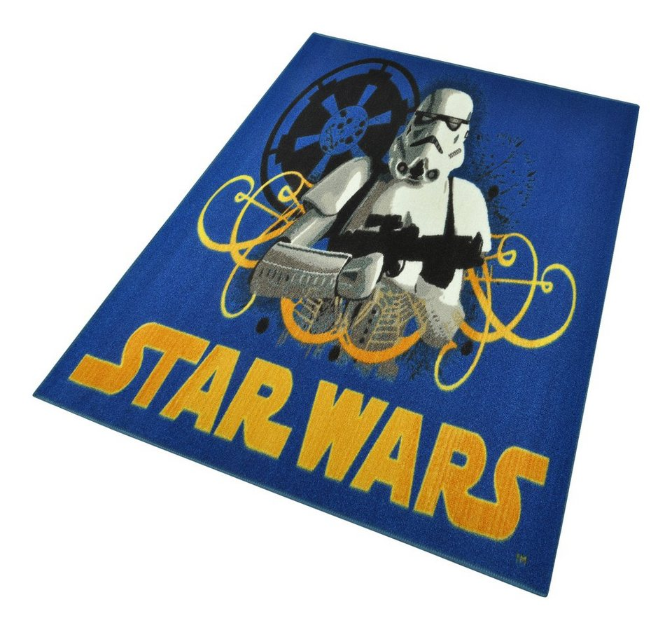 Kinder-Teppich, Star Wars, »Stormtrooper«, maschinell getuftet in Blau gelb