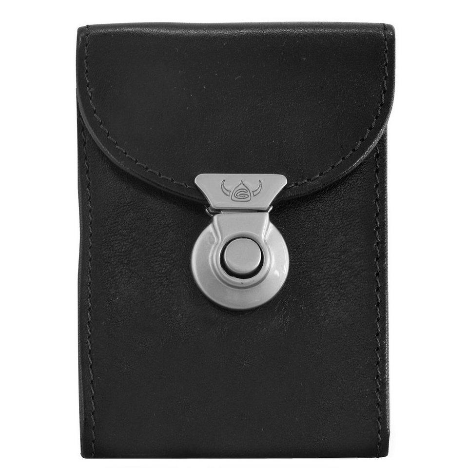Golden Head Polo Classic Schlüsseletui Leder 7 cm in schwarz