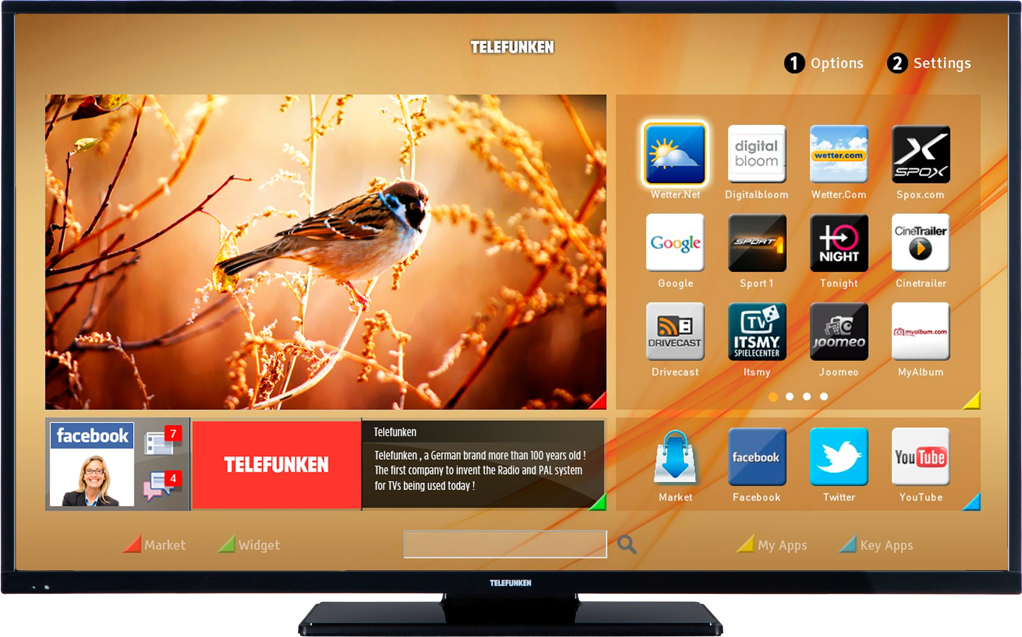 Telefunken D49F283M3CI, LED Fernseher, 124 cm (49 Zoll), 1080p (Full HD), Smart-TV