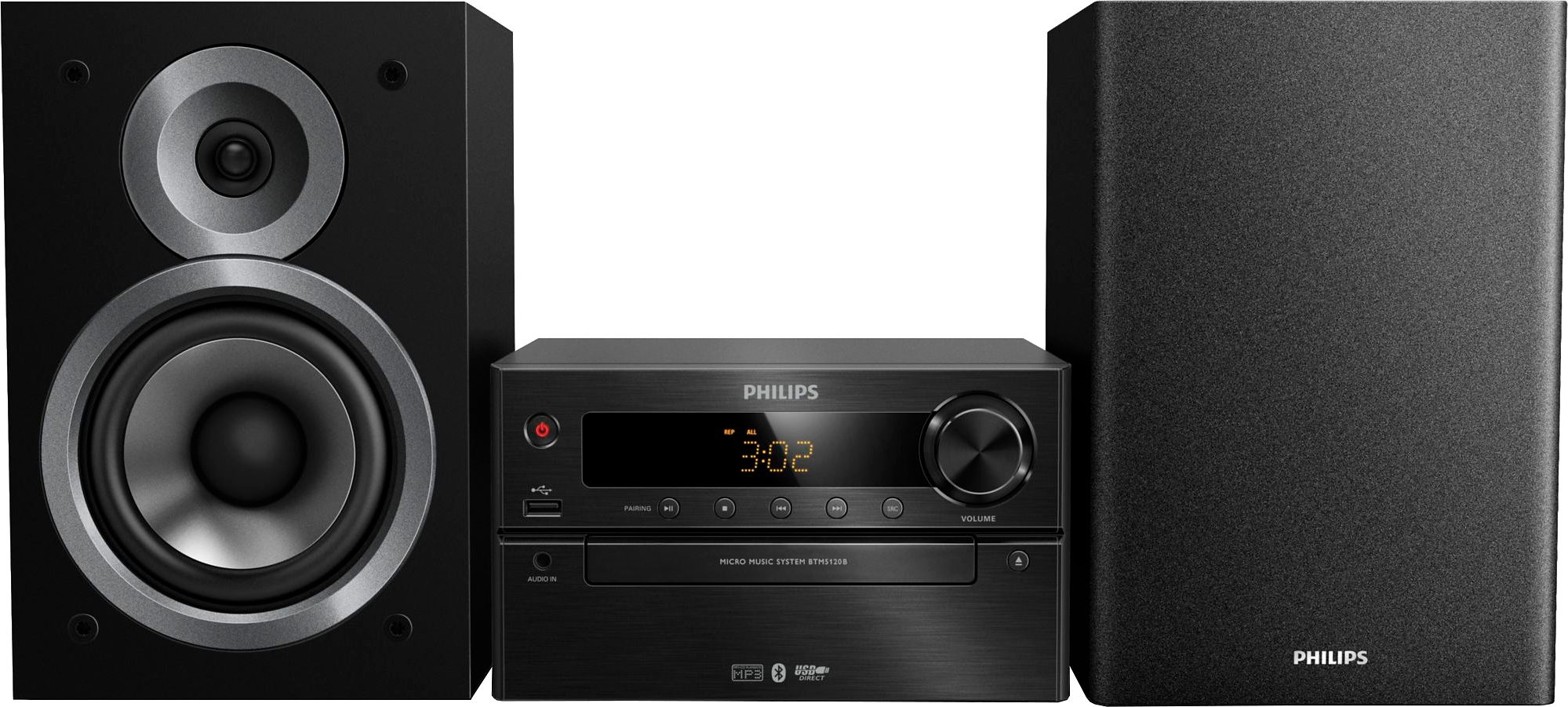 Philips BTM5120B/12 Minianlage, Bluetooth, RDS, 1x USB