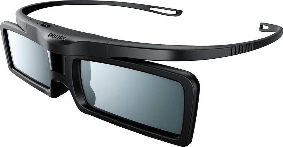 Philips PTA529 3D-Active-Shutter-Brille in Schwarz