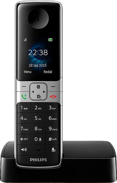 Philips D6301 Schnurloses DECT Telefon in schwarz