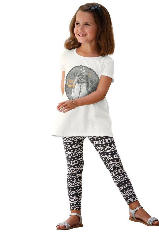 Kidoki Shirt & Leggings mit Ethnodruck (Set, 2-tlg.), für Mädchen in Bedruckt
