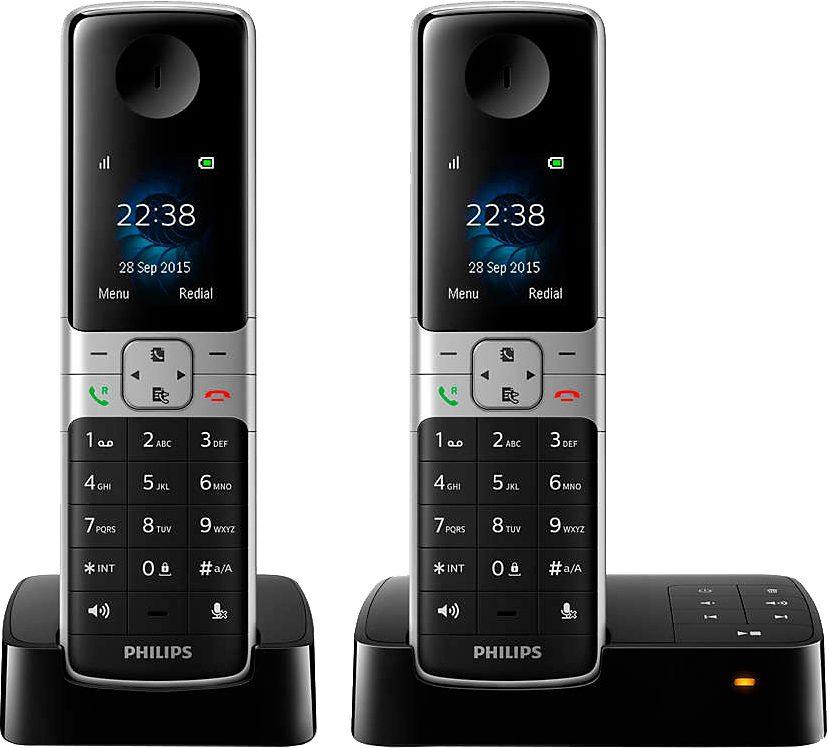 Philips D6352 DUO Schnurloses DECT Telefon-Set mit AB