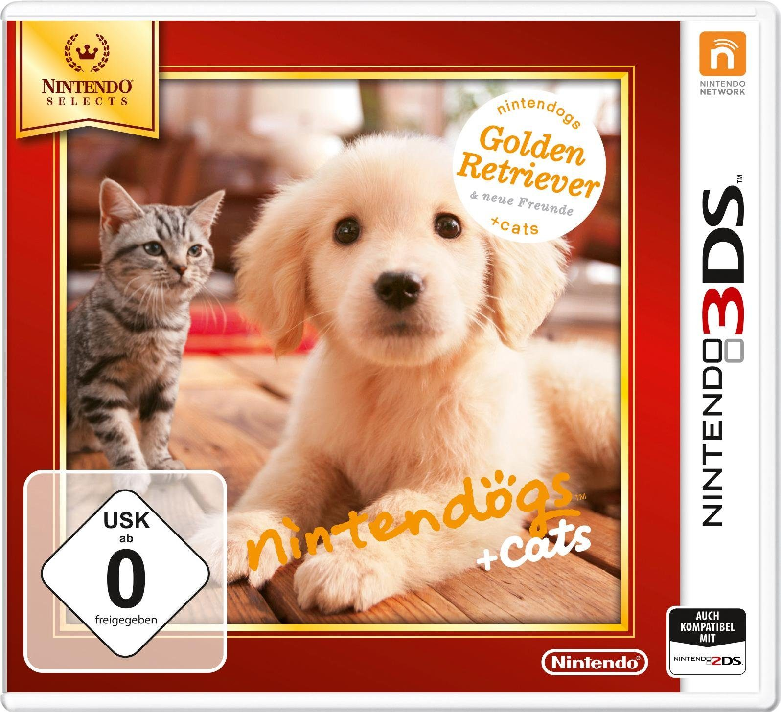 Nintendogs + Cats Golden Retriever & neue Freunde Nintendo Selects 3DS