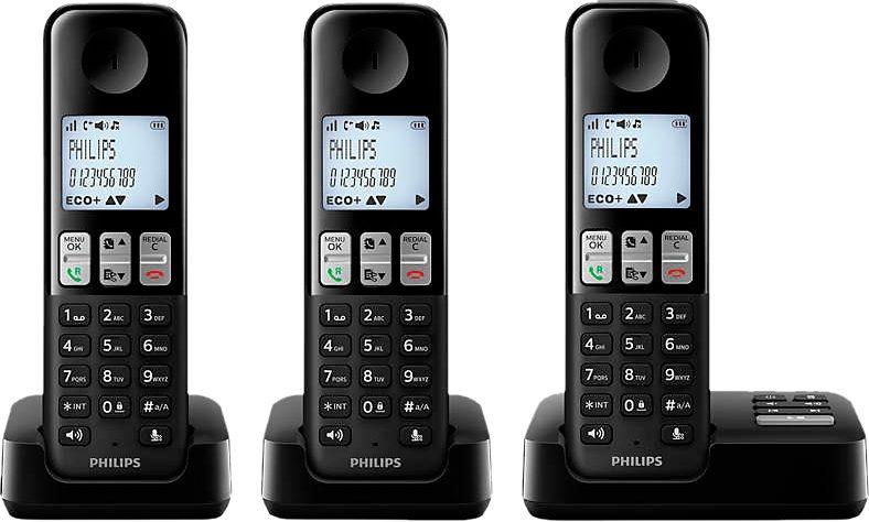 Philips D2353 TRIO schnurloses DECT Telefon-Set mit AB