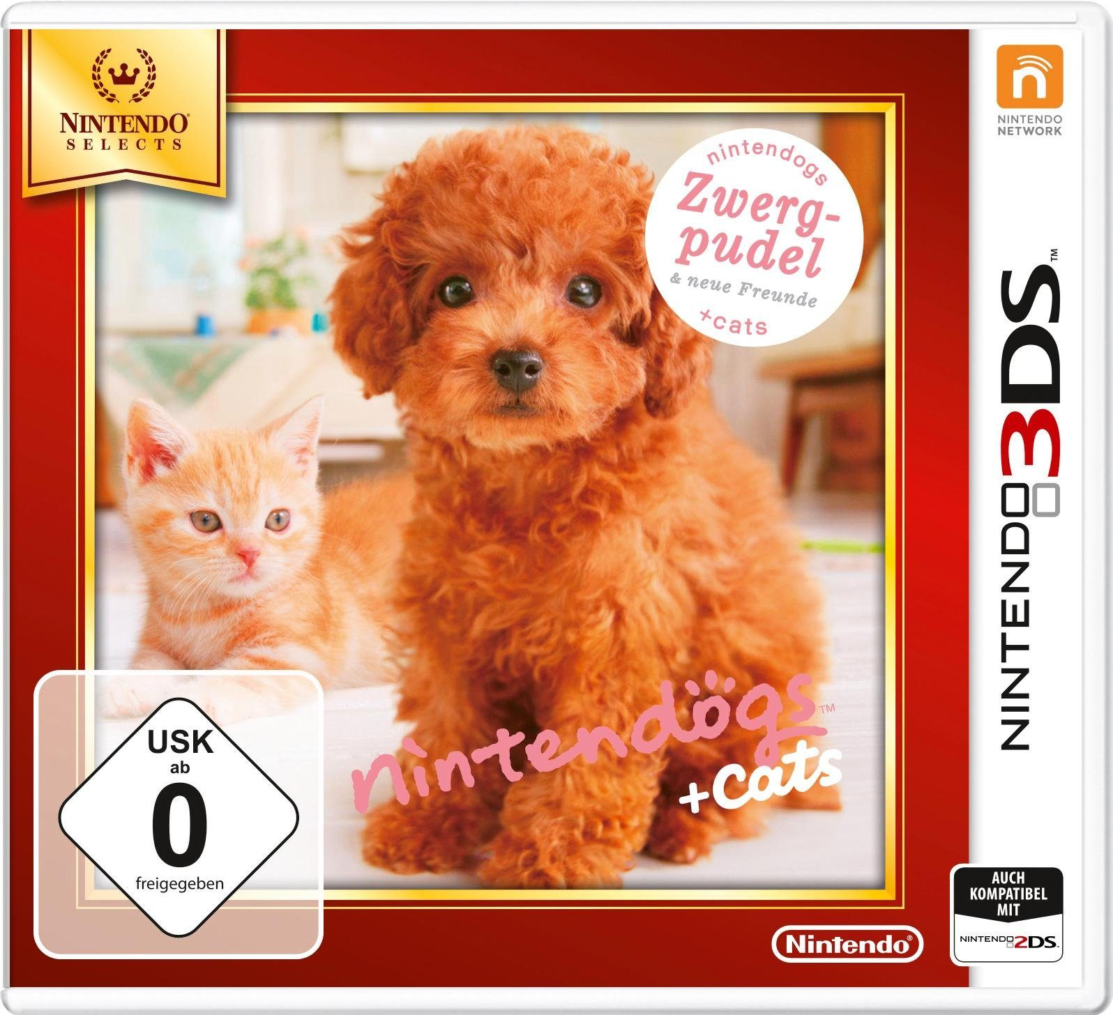 Nintendogs + Cats Zwergpudel & neue Freunde Nintendo Selects 3DS