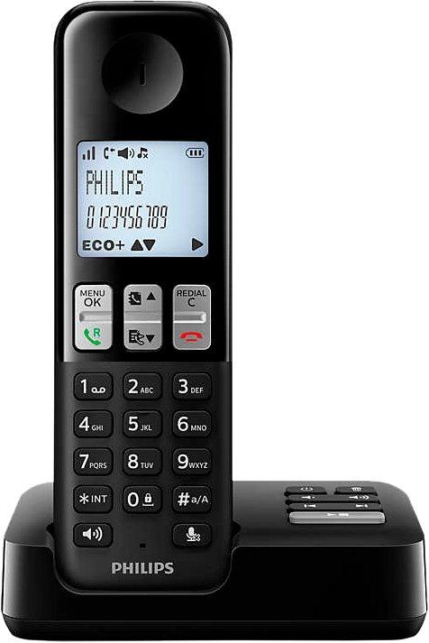 Philips D2351 Schnurloses DETC Telefon mit AB in schwarz