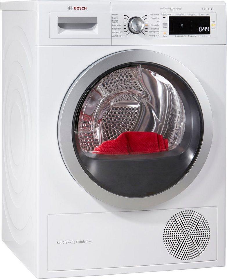 BOSCH Trockner WTW87560, A++, 8 kg in weiß