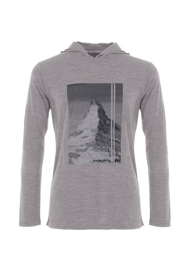 Super.Natural Merino Hoodie »M GRAPHIC VOYAGE HOODY LT« in CLOUD/MATTERHORN