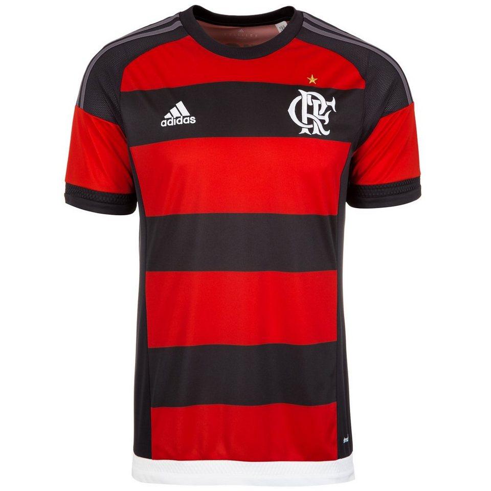 adidas Performance Flamengo Trikot Home 2015/2016 Herren in rot / schwarz / grau