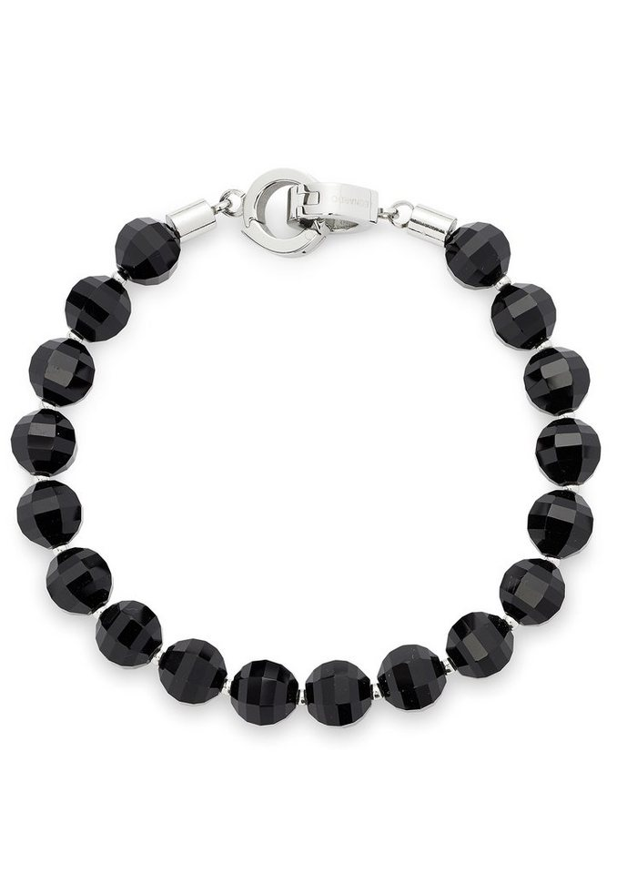 Jewels by Leonardo Charm-Armband mit Glasperlen, »darlin´s mio, 015435« in silberfarben/schwarz