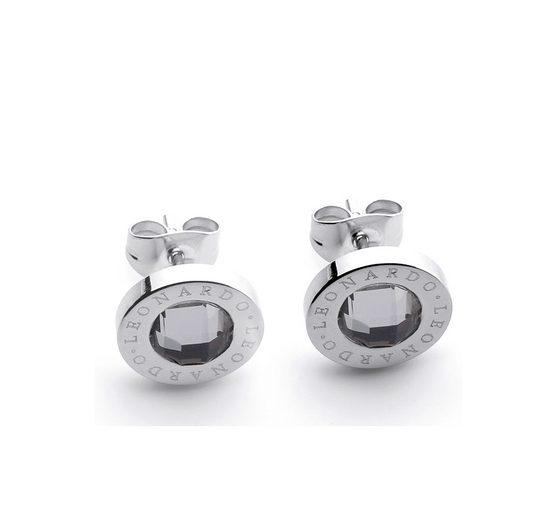 Jewels by Leonardo Paar Ohrstecker mit Glassteinen, »matrix klar, 011252«