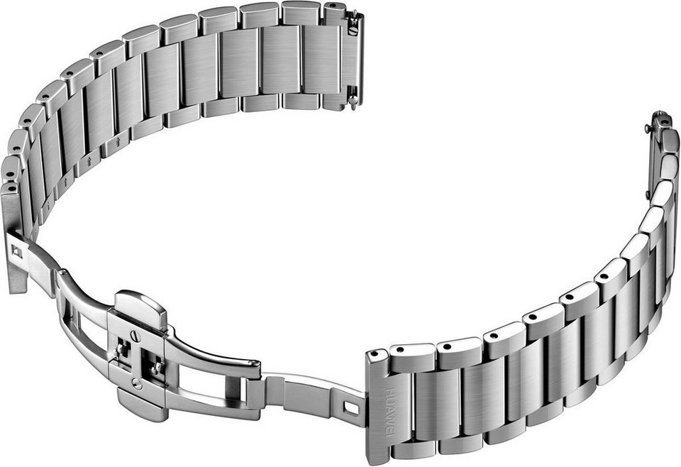 Huawei Ersatz-/Wechselarmband »Edelstahl Gliederarmband für Watch« in Silber