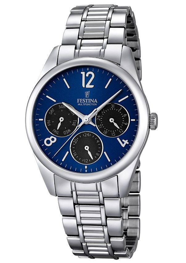 Festina Multifunktionsuhr, »F16869/2« in silberfarben