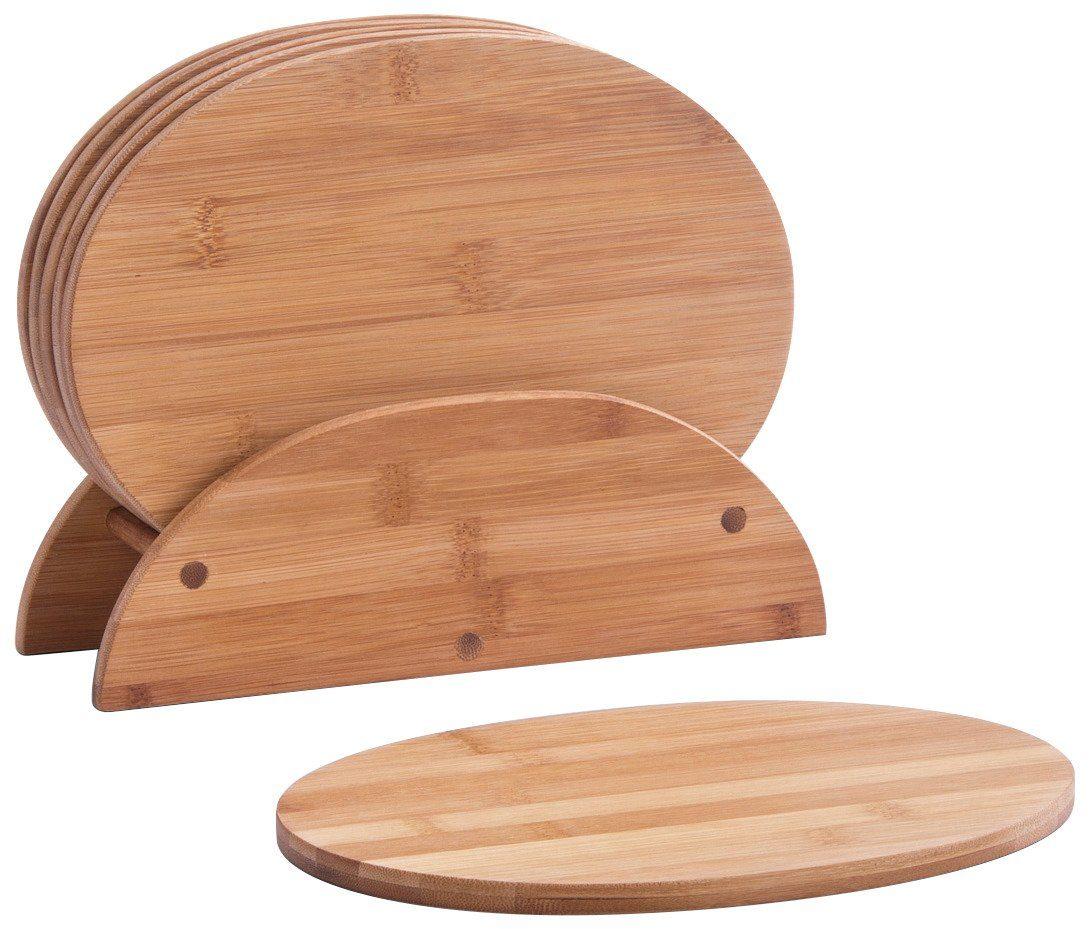 Zeller Brettchenständer »Bamboo«, 7-tlg., oval
