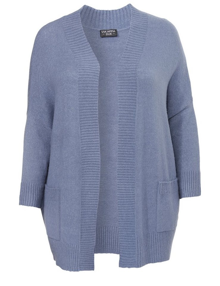 VIA APPIA DUE Strickjacke in RAUCHBLAU