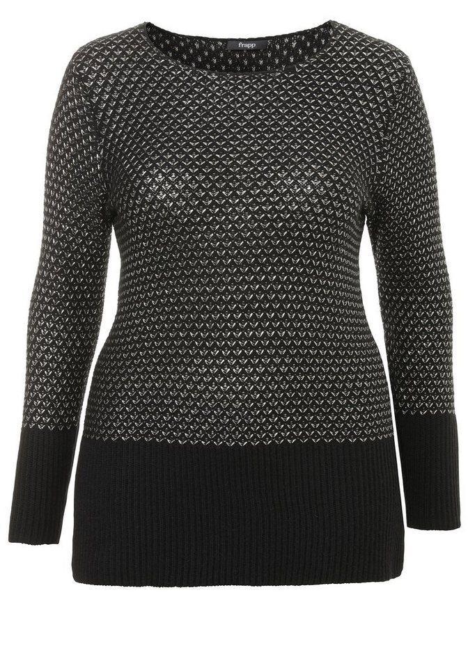 FRAPP Pullover »Black &Silver« in BLACK