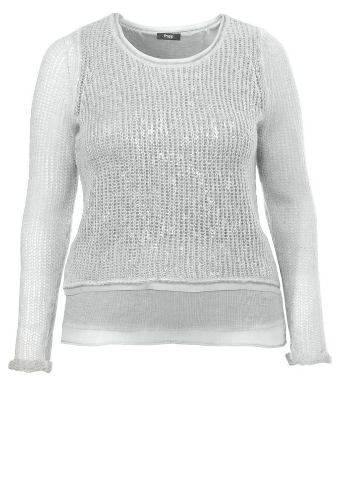 FRAPP Pullover »Two-in-One-Optik« in DUSTY JADE