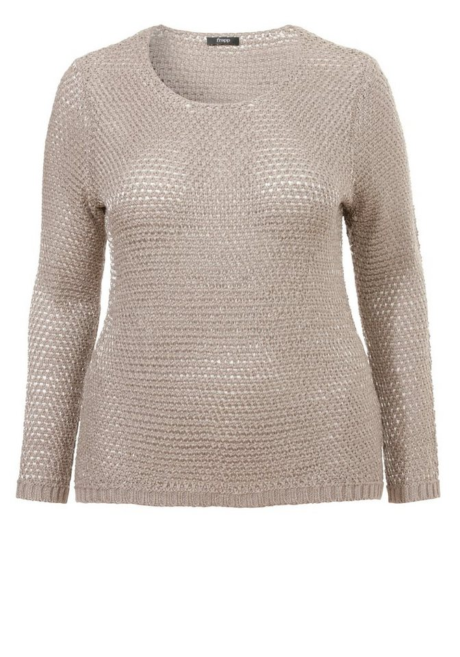 FRAPP Pullover »Pure Comfort« in NOUGAT