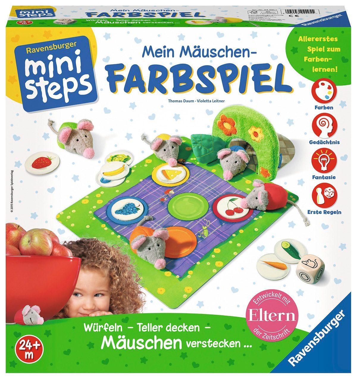Ravensburger Lernspiel, ministeps®, »Mein Mäuschen Farbspiel«