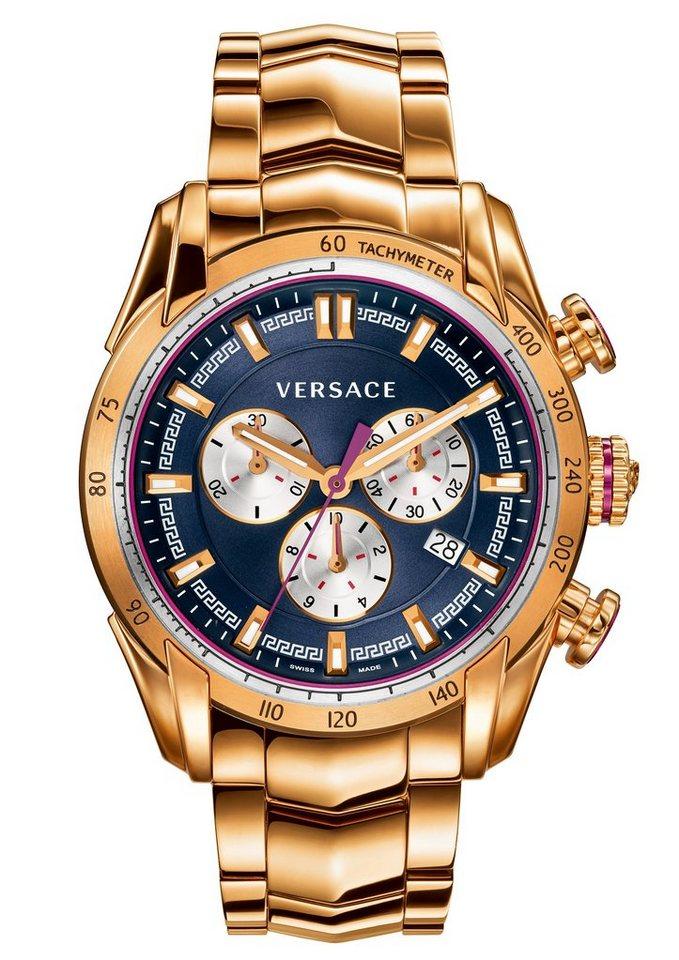 Versace Chronograph »V-RAY, VDB060015« in roségoldfarben