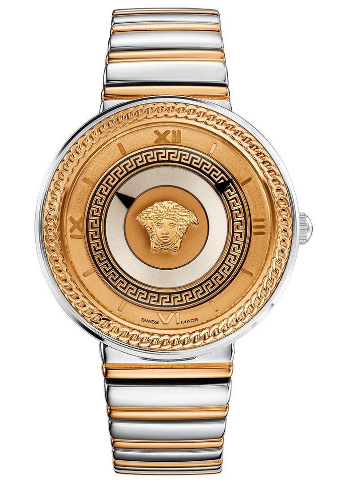 Versace Armbanduhr, »V-METAL, VLC080014« in silberfarben