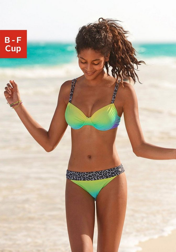 Bademode - KangaROOS Bügel Bikini mit trendigen Details im Leoprint › grün  - Onlineshop OTTO
