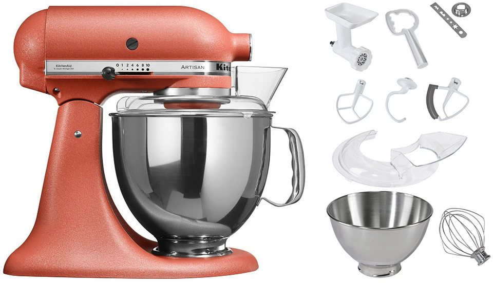 kitchenaid k chenmaschine 5ksm150psecd artisan 300 w 4 83 l sch ssel inkl sonderzubeh r im. Black Bedroom Furniture Sets. Home Design Ideas