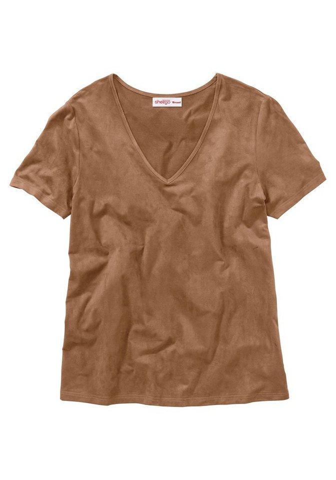 sheego Trend Shirt in cognac