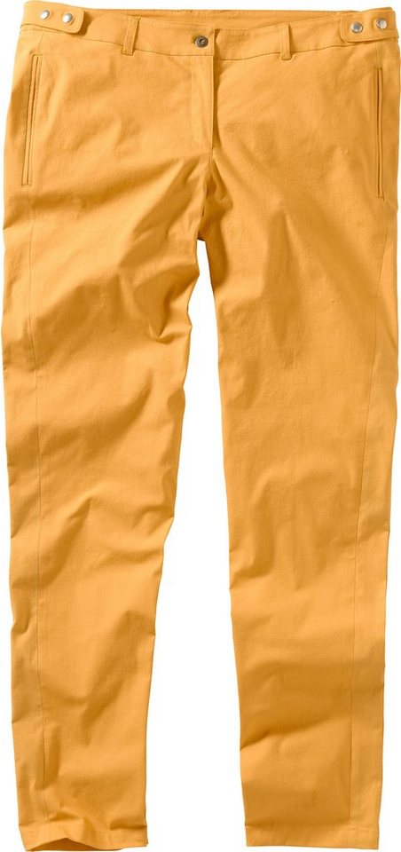 sheego Trend Schmale Stretch-Hose in uni mango