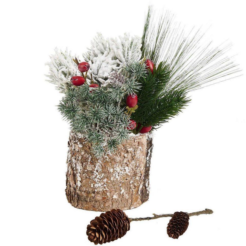 BUTLERS WINTERGREEN »Baumstamm mit Schnee« in braun