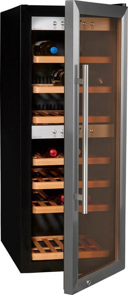 CASO Design Weinkühlschrank »WineMaster 38«, Höhe 102,5 cm, für 38 Bordeauxflaschen á 0,75l in Schwarz/Edelstahl